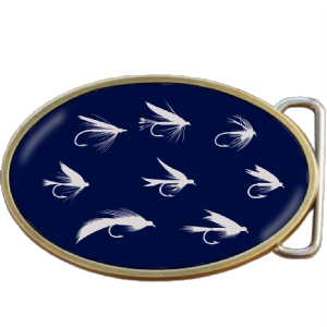 Fly Fishing Flies Hooks Belt Buckle. Code A0082